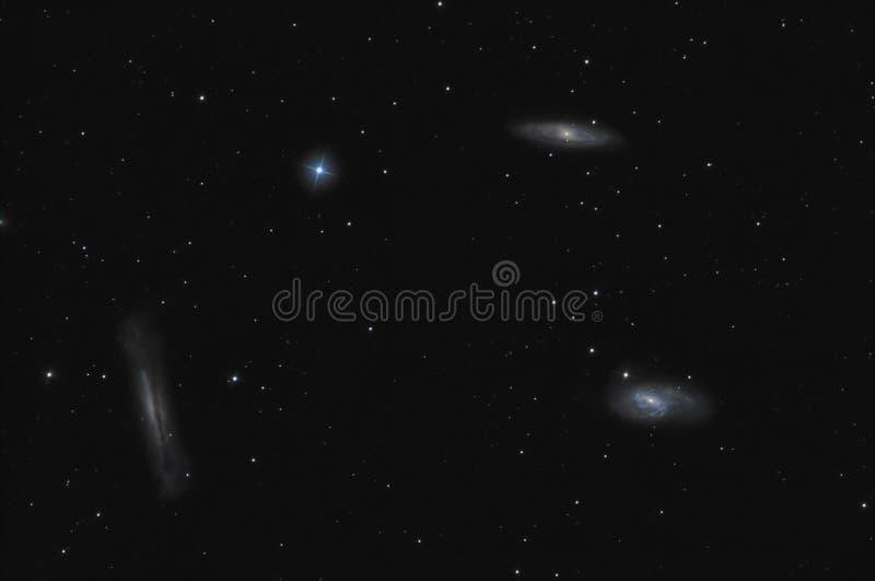 Löwe-Trio-Galaxien stockbild