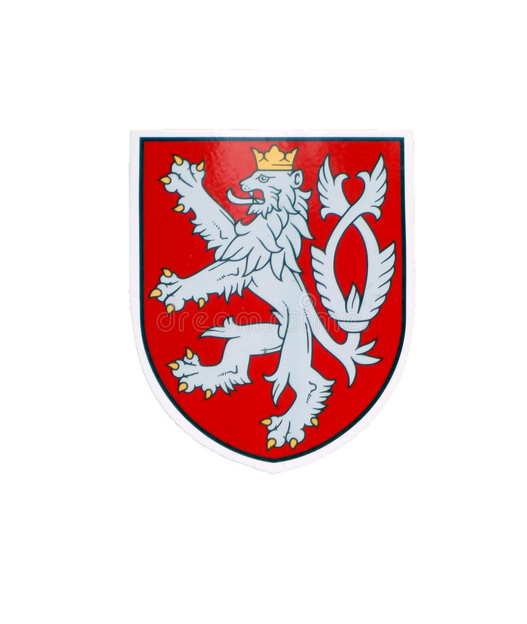 Löwe - tschechisches nationales Zeichen stockbild