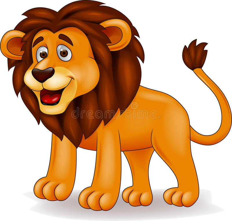 Löwekarikatur stock abbildung
