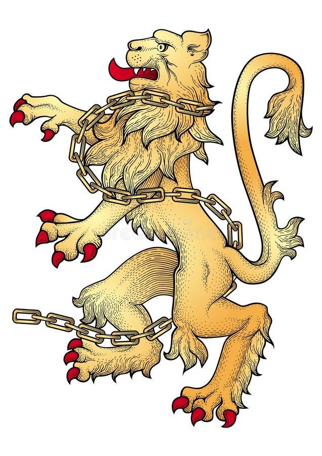 Löwevektor lizenzfreie abbildung