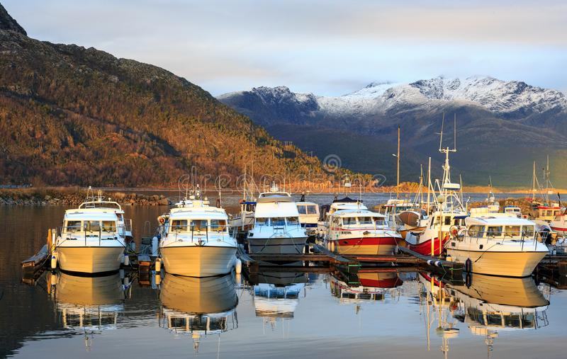 Lødingen norway. Lødingen is a village and municipality in Nordland county in Norway. Lødingen is located on the southeastern corner of the island of royalty free stock images