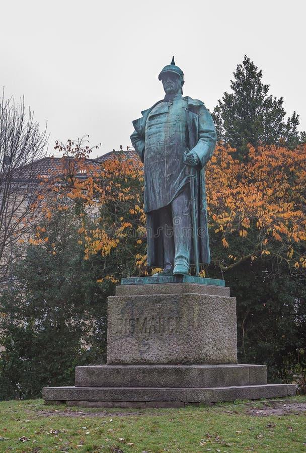 Lübeck, Allemagne Statue d'Otto von Bismarck image libre de droits