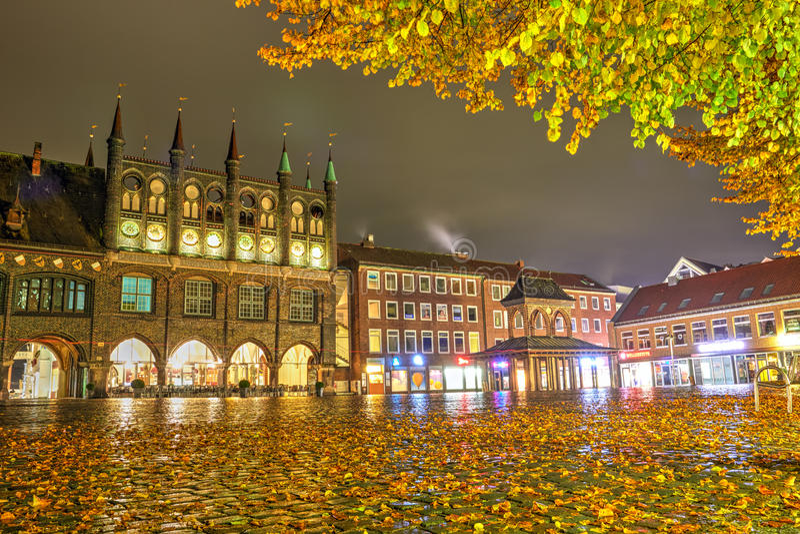 Lübeck, Duitsland - November 12, 2016: Stadhuis royalty-vrije stock foto