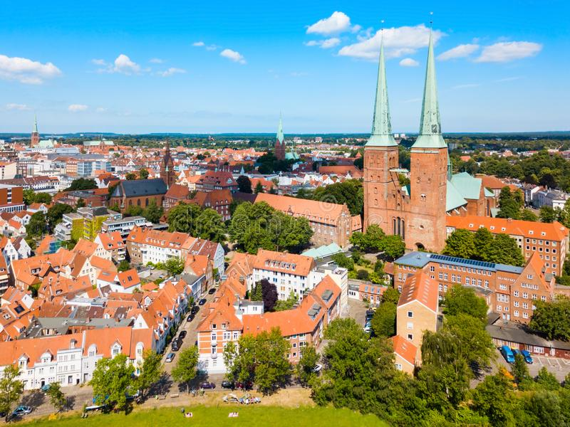 Lübeck Kathedrale oder Lubecker Dom stockfotografie