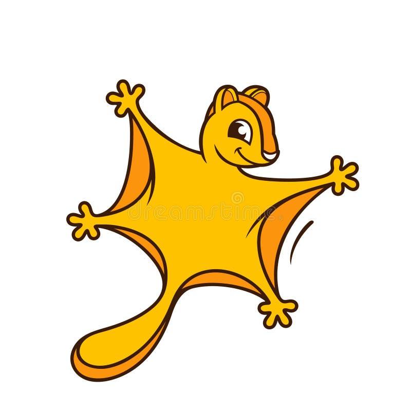 Lügeneichhörnchenzeichen stock abbildung