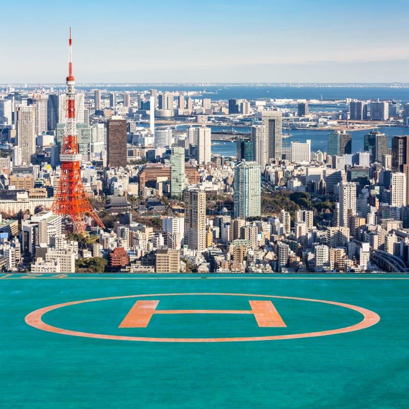 Lądowiska Tokio wierza, Tokio Japonia obraz royalty free
