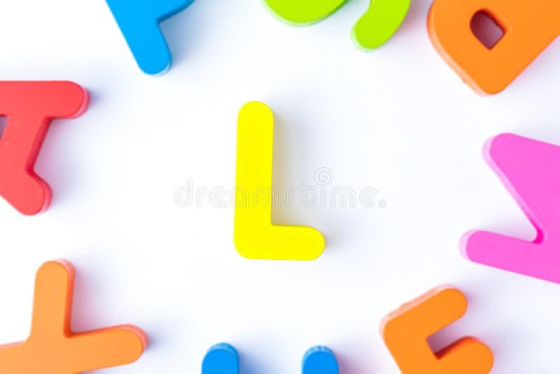 L信件用英语 库存照片