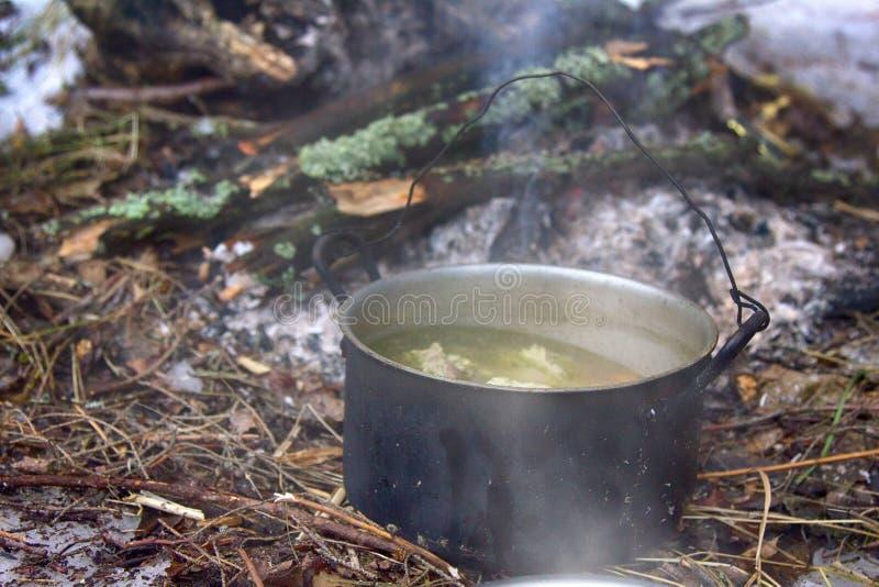 l罐旅客的汤 免版税库存照片