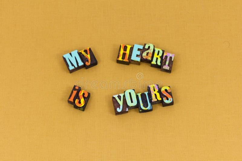 L'âme de coeur aiment la belle pour toujours typographie photos libres de droits