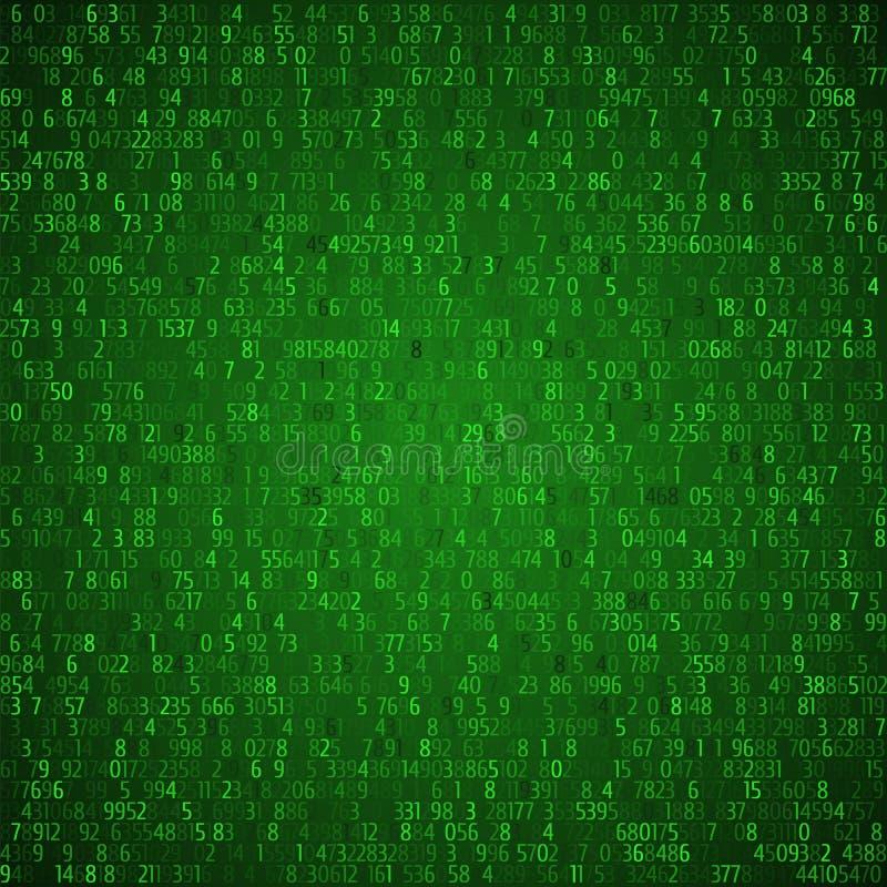 L'échange commerce le fond vert Code binaire Concept de pirate informatique dedans illustration libre de droits