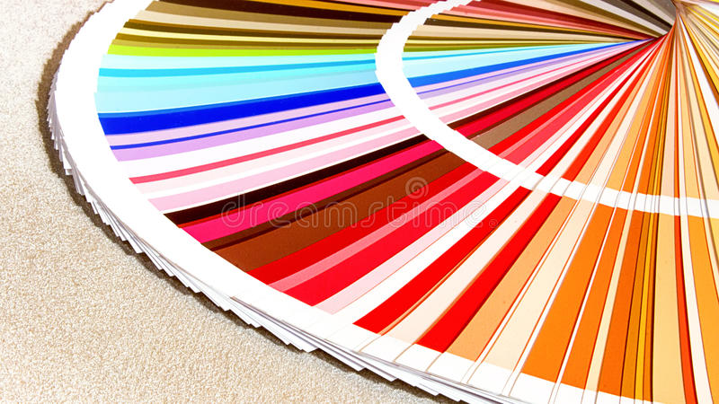 L'échantillon colore le catalogue Guide de palette de couleur photo libre de droits