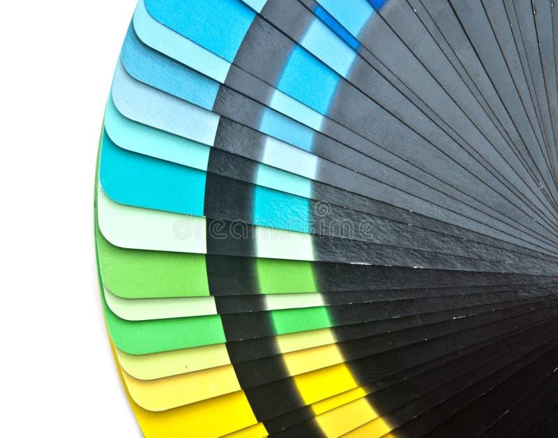 L'échantillon de spectre de guide de couleur prélève l'arc-en-ciel photographie stock
