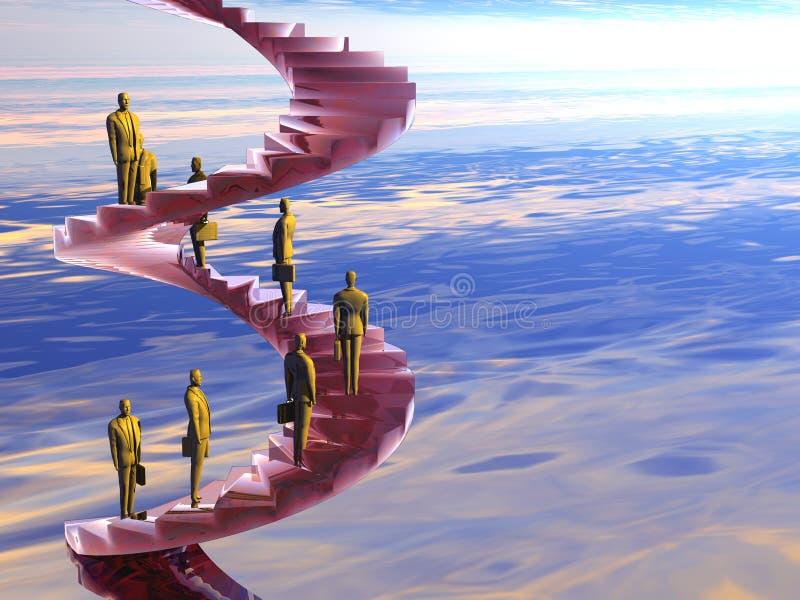 L'échelle de corporation. illustration libre de droits