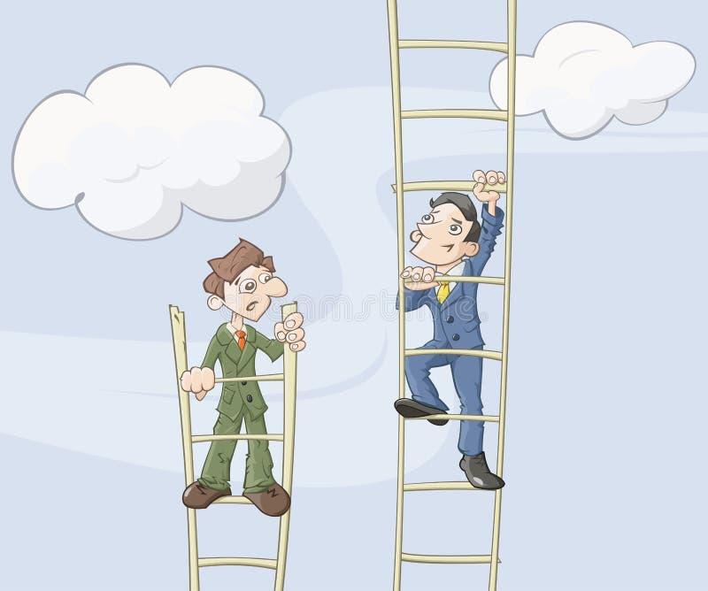 L'échelle de la carrière illustration de vecteur