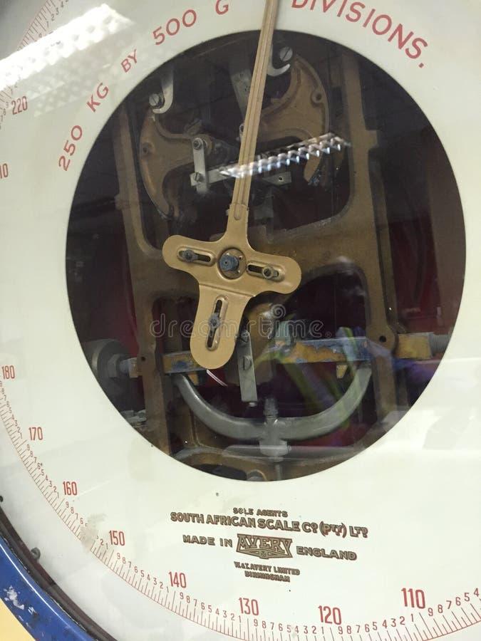 L'échelle de la vieille minuterie image stock