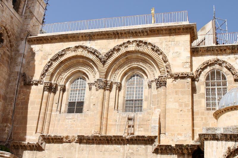 L'échelle immeuble - église de la tombe sainte - Jérusalem - l'Israël photo stock