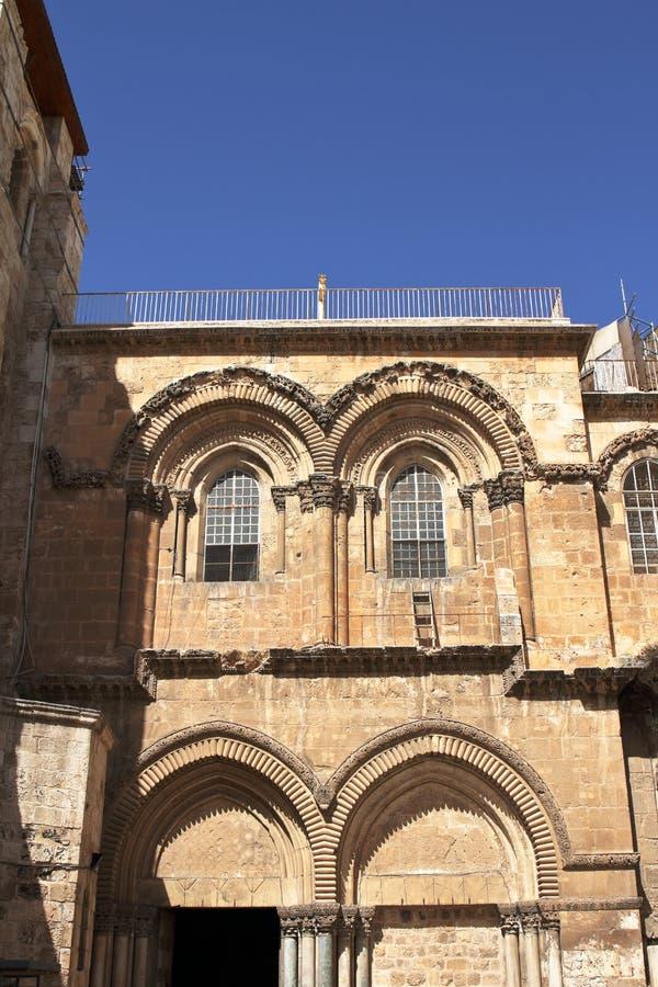 L'échelle immeuble - église de la tombe sainte - Jérusalem - l'Israël photo libre de droits