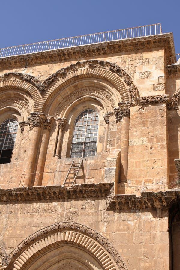 L'échelle immeuble - église de la tombe sainte - Jérusalem - l'Israël images libres de droits