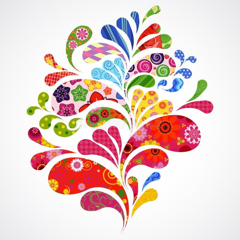 L'éclaboussure de floral et de l'ornamental relâche le fond. illustration libre de droits