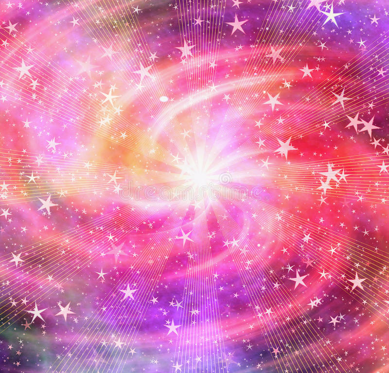 L'éclair lumineux dans l'espace rêveur tient le premier rôle le fond illustration libre de droits