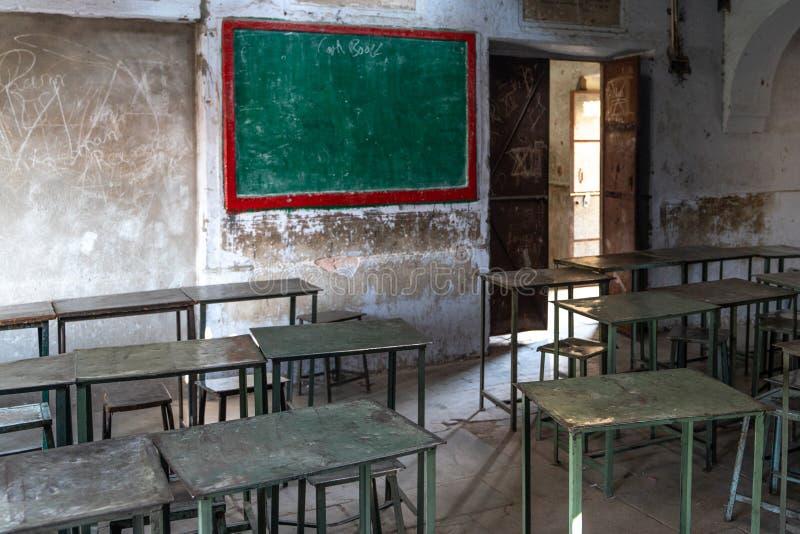 L'école dans la vieille maison indienne photographie stock libre de droits