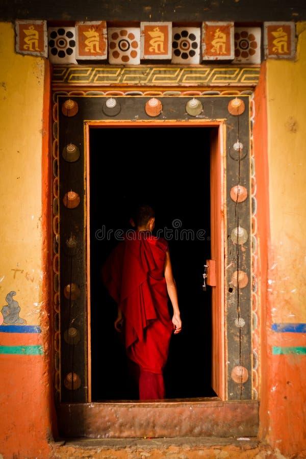L'école de monastère de forteresse de Rinpung Dzong pour des moines, Paro, Bhu photo stock