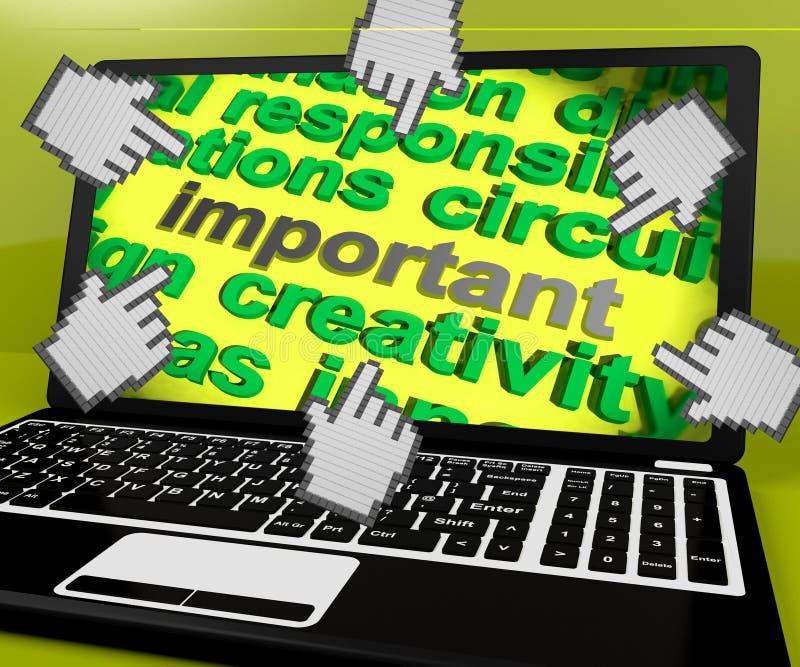 L'écran important d'ordinateur portable signifie critique significatif ou la priorité illustration de vecteur