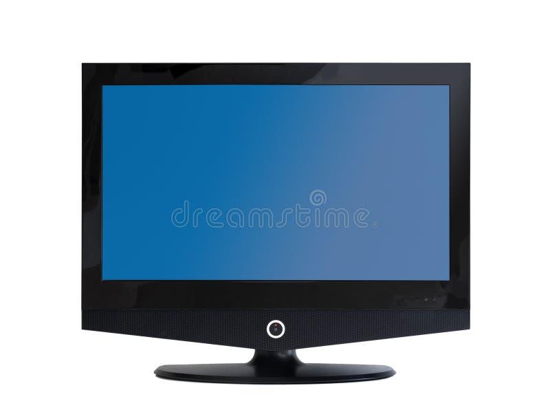 l'écran plat a isolé l'affichage à cristaux liquides TV réglée photo stock