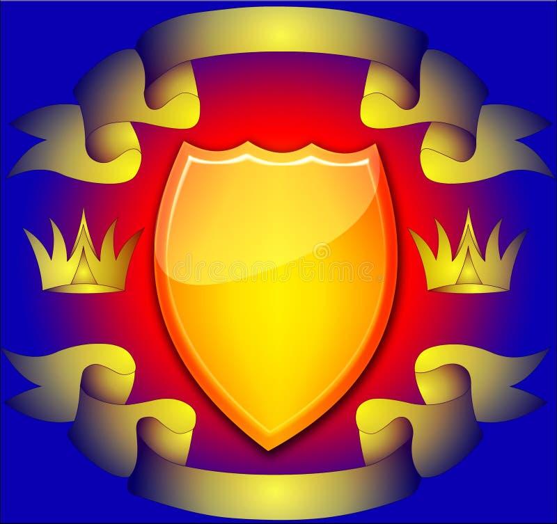 L'écran protecteur avec la corona illustration stock