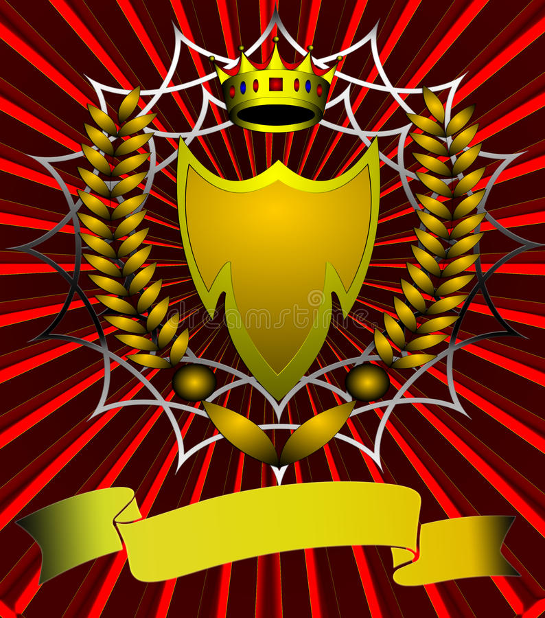 L'écran protecteur avec la corona et l'oreille illustration stock