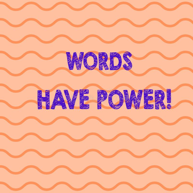 L'écriture conceptuelle de main montrant des mots ont la puissance Photo d'affaires présentant car ils a la capacité d'aider à gu illustration libre de droits