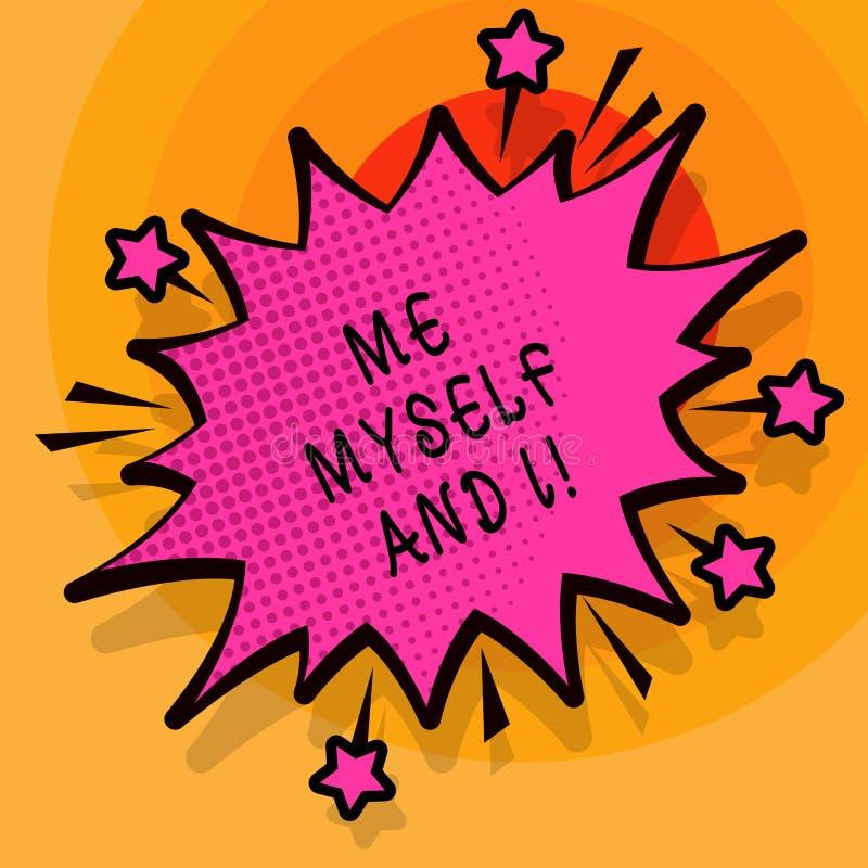 L'écriture de Word me textotent moi-même et I Concept d'affaires pour la responsabilité de prise selfindependent égoïste des acti illustration libre de droits