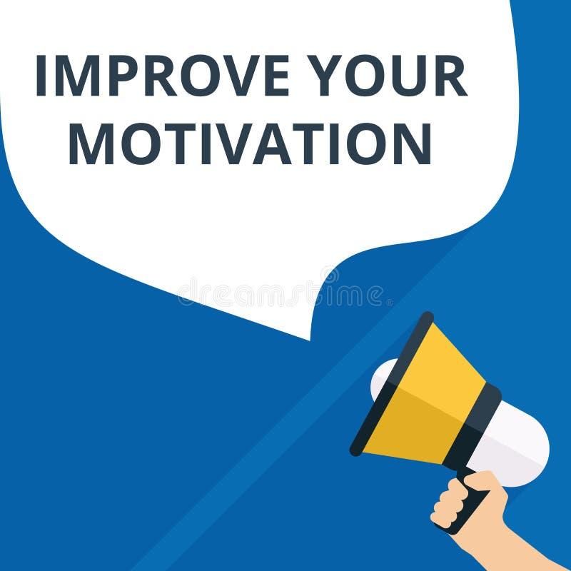l'écriture des textes améliorent votre motivation illustration stock