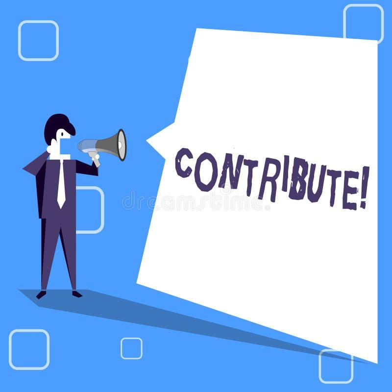 L'écriture des textes d'écriture contribuent Concept signifiant la décision Teamworking de stratégie pour le but réussi commun d' illustration de vecteur