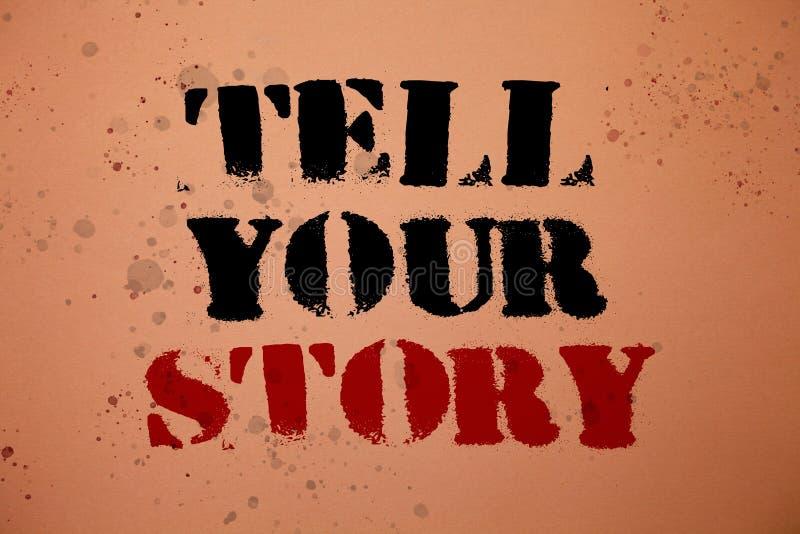 L'écriture des textes d'écriture racontent votre histoire Signification de concept exprimant vos sentiments relatant écrivant vot illustration de vecteur