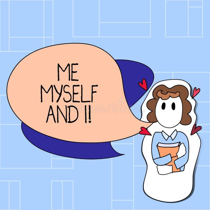L'écriture me textotent moi-même et I Responsabilité de prise selfindependent égoïste de signification de concept des actions illustration stock