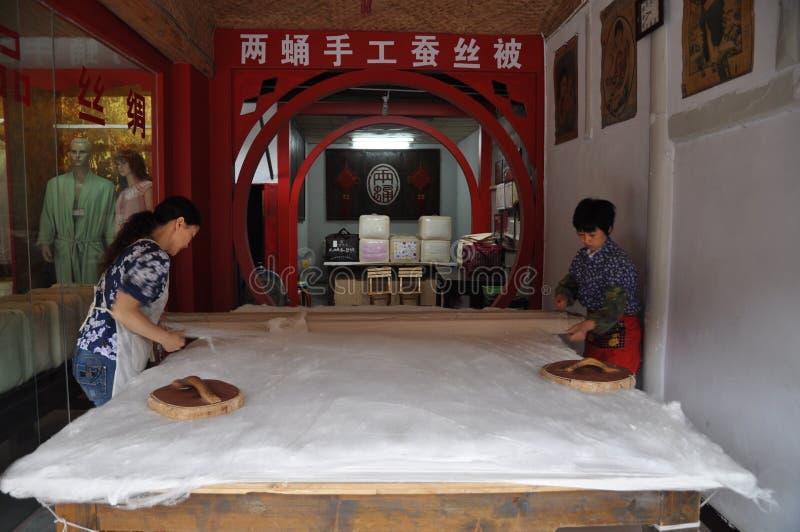 L'édredon en soie handcrafted photo libre de droits