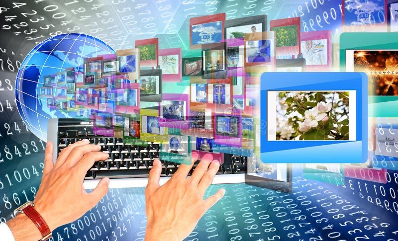 L'éducation d'Internet image stock