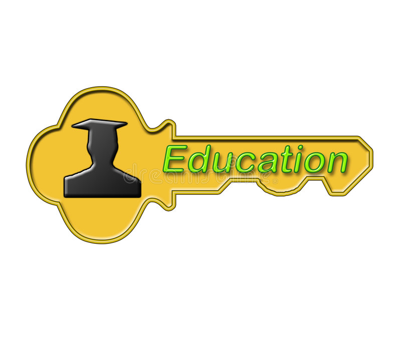 L'éducation est la clé illustration de vecteur