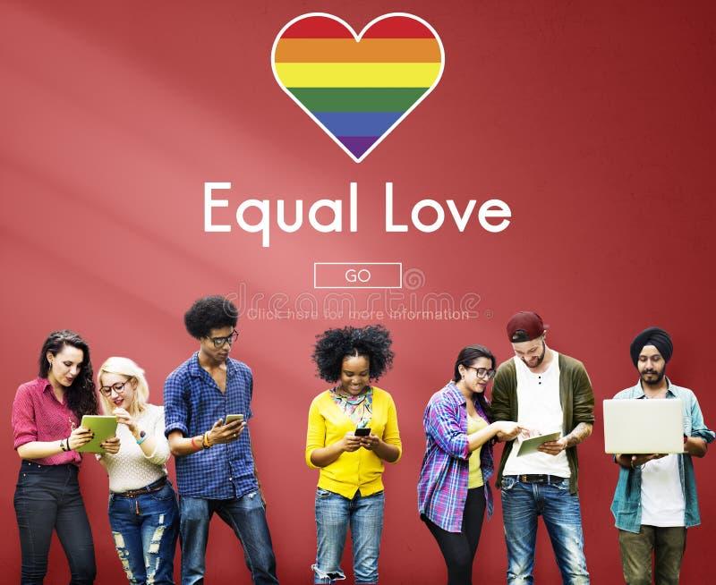 L'égal gai de LGBT redresse le concept d'homosexualité images libres de droits