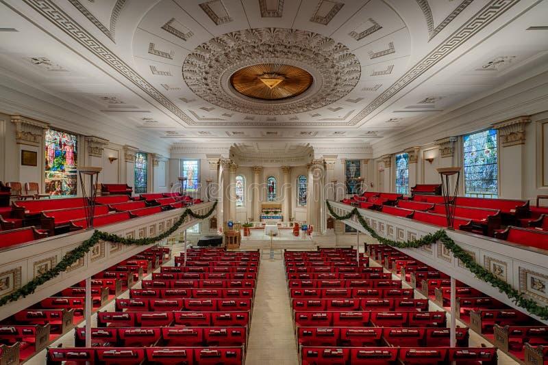 L'église épiscopale de St Paul de Richmond image libre de droits