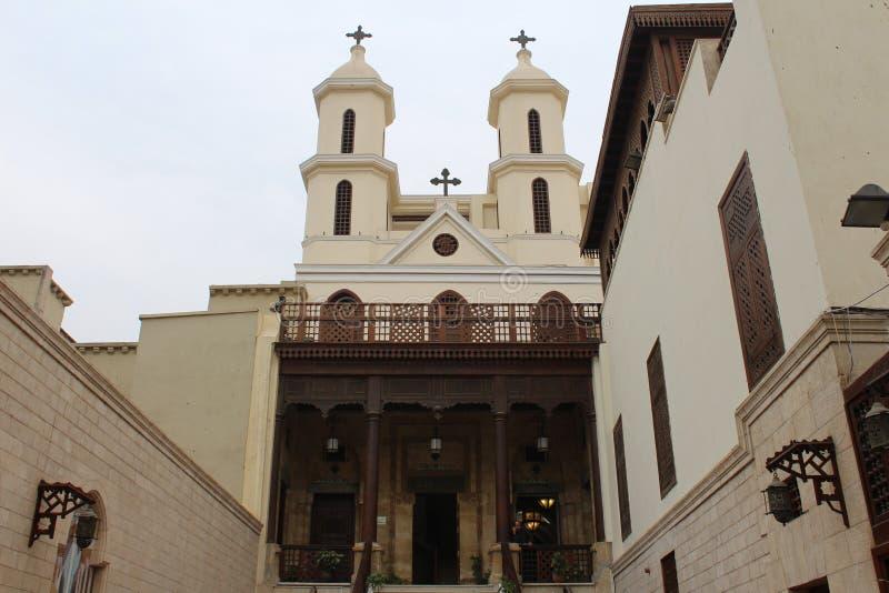 L'église accrochante, le vieux Caire, Egypte photo stock