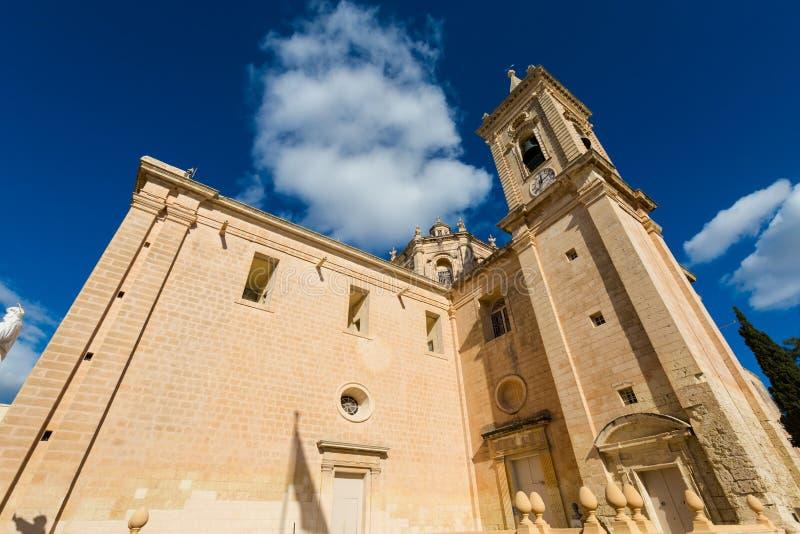 L'église Balzan Malte de Parich image libre de droits