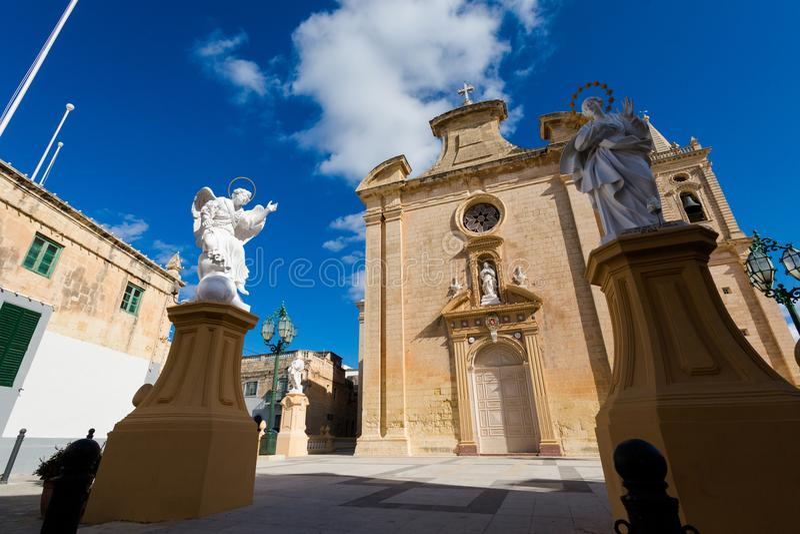 L'église Balzan Malte de Parich image stock