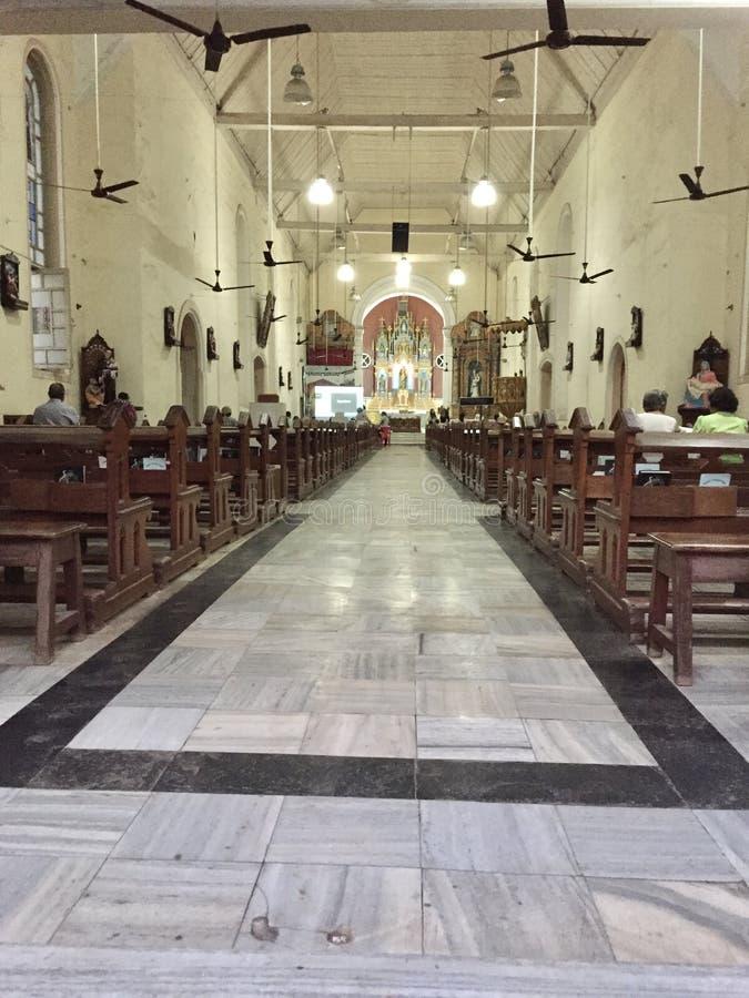 L'église Bandra, architecture portugaise de St Andrew photographie stock libre de droits
