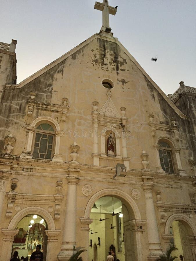 L'église Bandra, architecture portugaise de St Andrew images stock