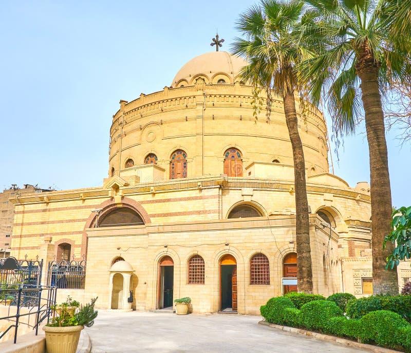 L'église bizantine de style au Caire copte, Egypte photographie stock libre de droits