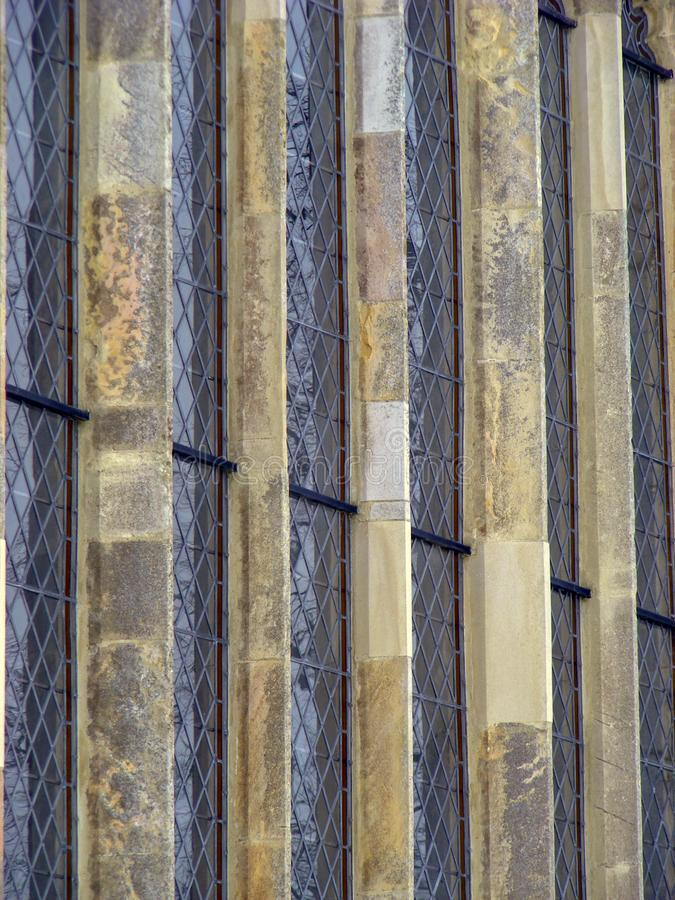 L'église Bungay de St Mary a souillé la fenêtre en verre d'église photo libre de droits