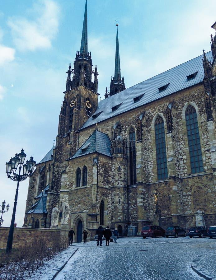 L'église célèbre de St Peter à Brno image stock