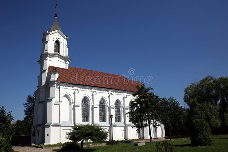 L'église catholique de la trinité sainte photos stock